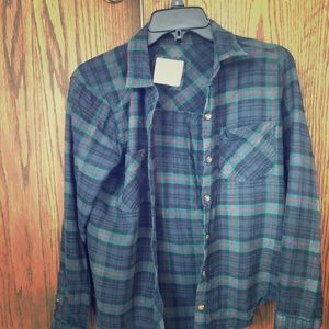 Abercrombie and Fitch forest green flannel